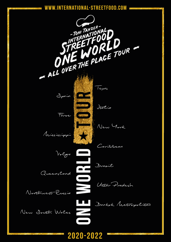 Poster-One-World-Toni-Tänzer-International-Streetfood-DIN-A-4-a